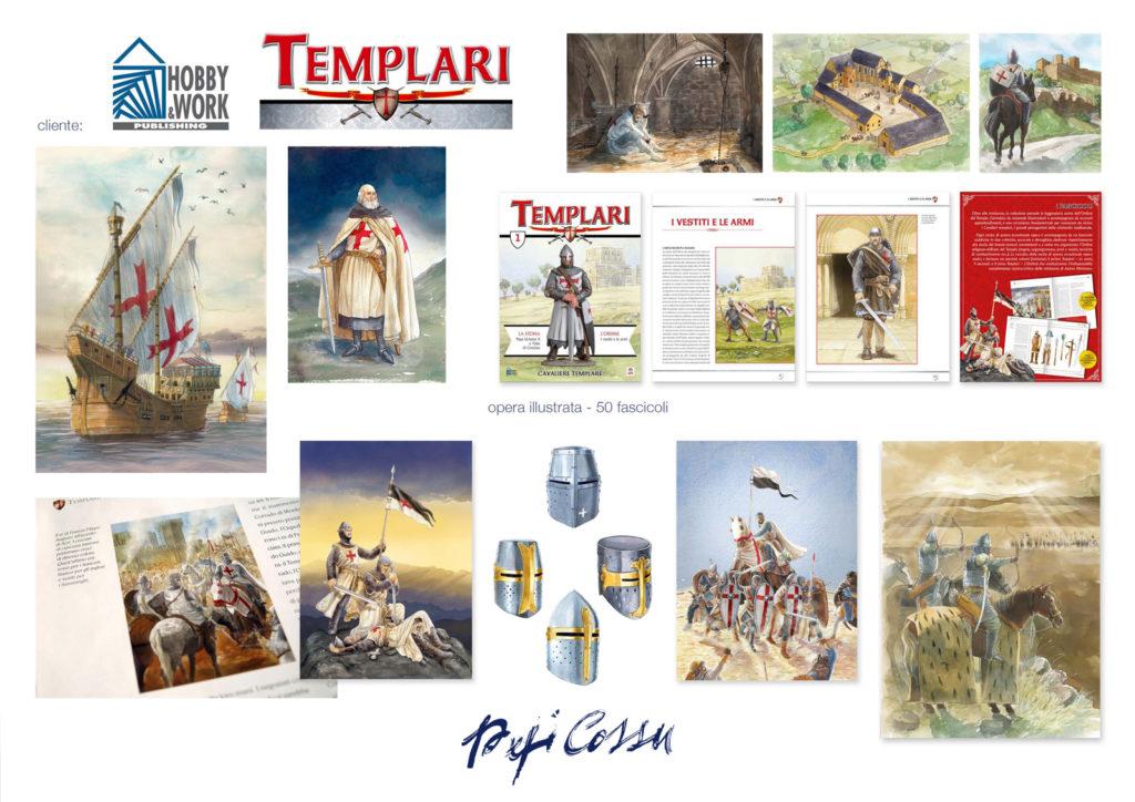 Templari, opera illustrata a fascicoli, edizioni Hobby&Work