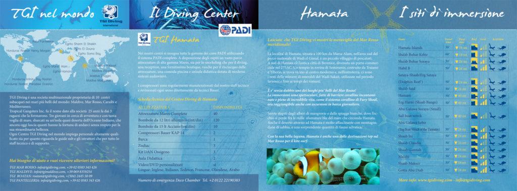 Egitto, Mar Rosso, brochure, concept + illustrazione + grafica + infografica per TGI diving