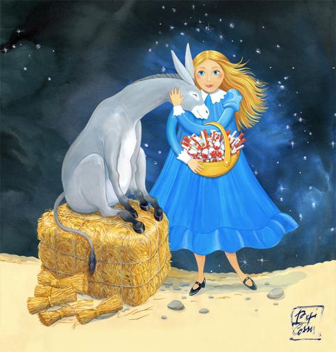 Santa Lucia, illustrazione per Kinder Ferrero