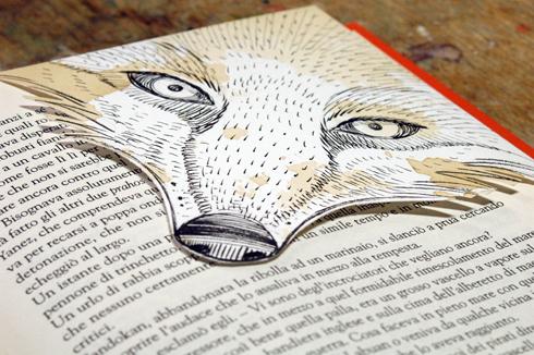 Segnalibro animale, stampa serigrafica + caffè