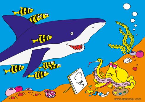 Gli abitanti del mare, album da colorare, edizioni Geodia