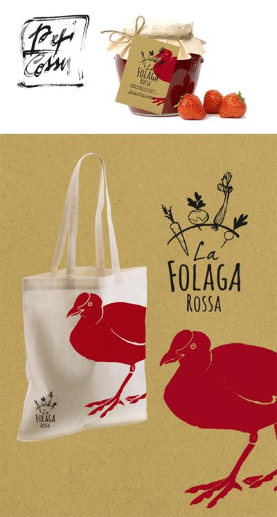 La Folaga Rossa, azienda agricola, logo, immagine coordinata e comunicazione
