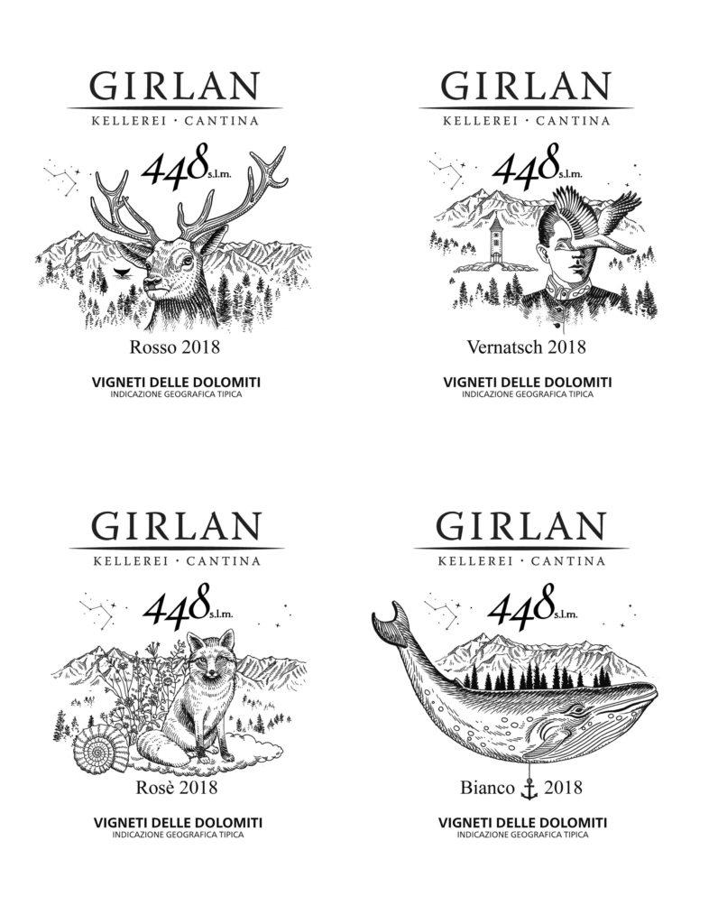 Proposta etichette Vino GIRLAN