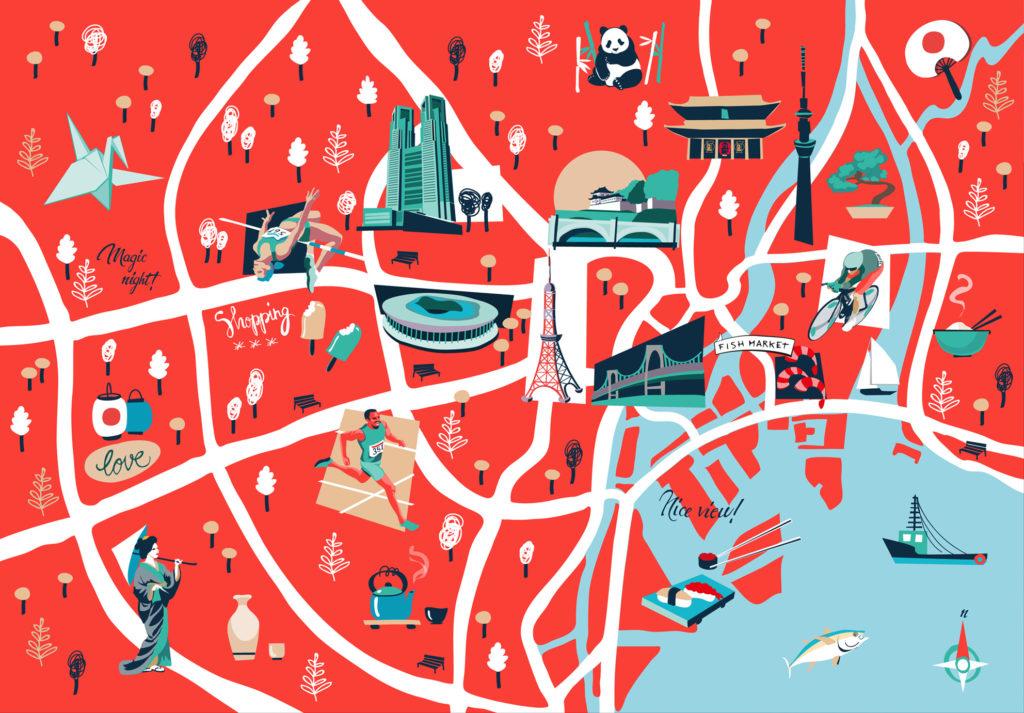 JMAM – mappa di Tokyo per CARTACANTA – Giappone